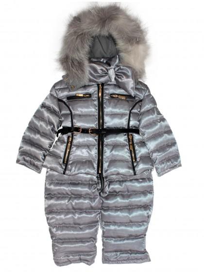 Комплект куртка полукомбинезон с натуральным мехом италия